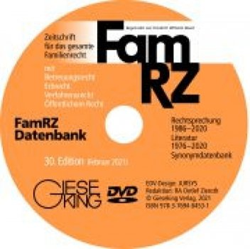 FamRZ Datenbank (30. Edition 2021 - DVD) | Gottwald