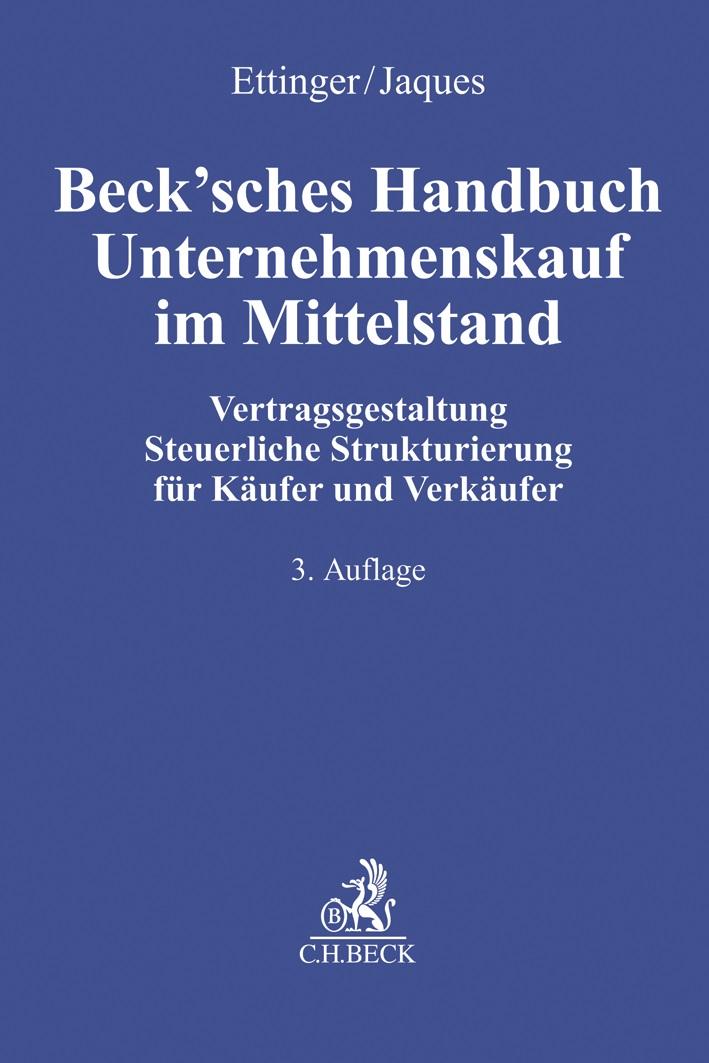 Beck Sches Handbuch Unternehmenskauf Im Mittelstand Ettinger